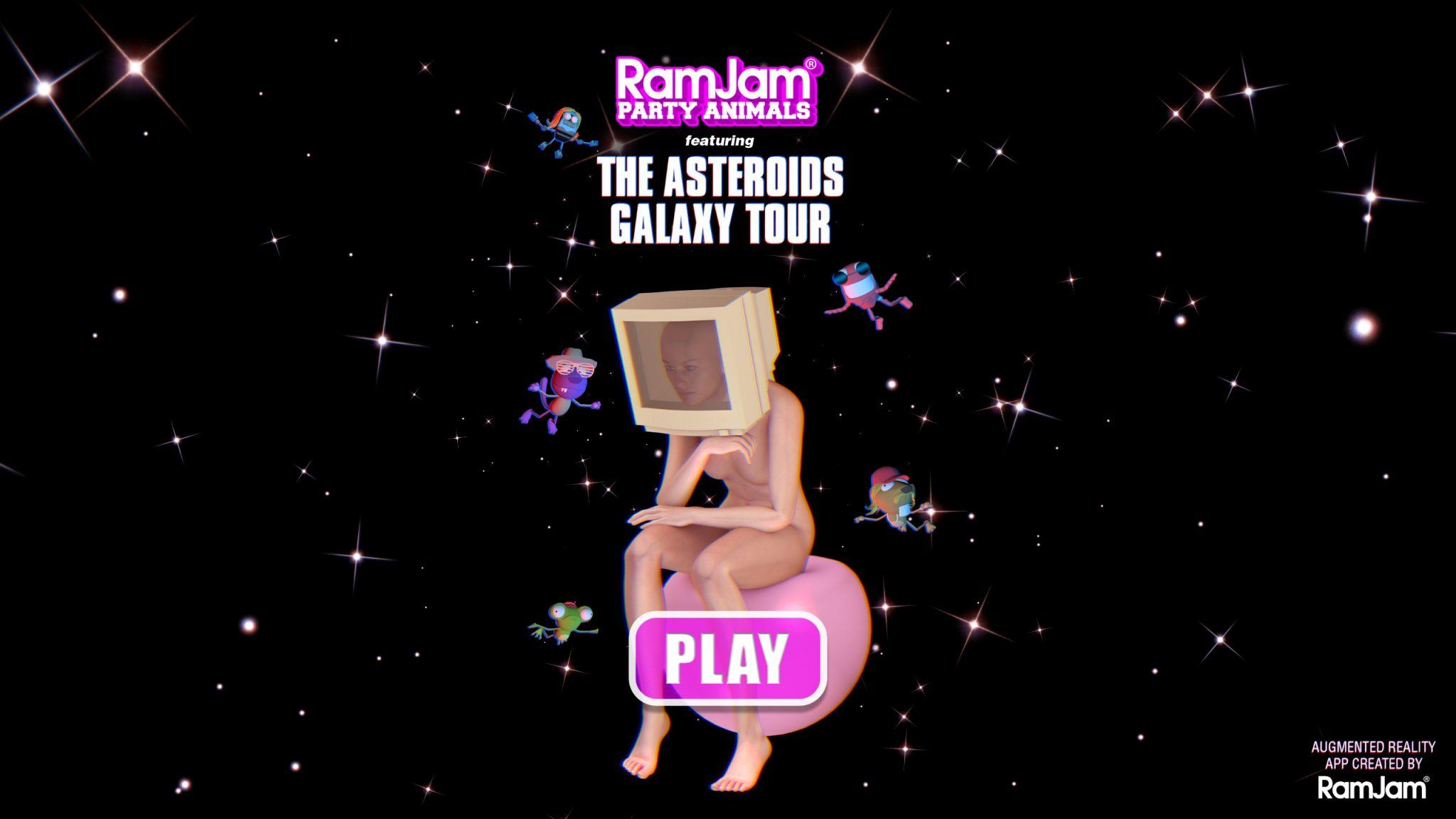 RamJam Asteroids Splash Screen